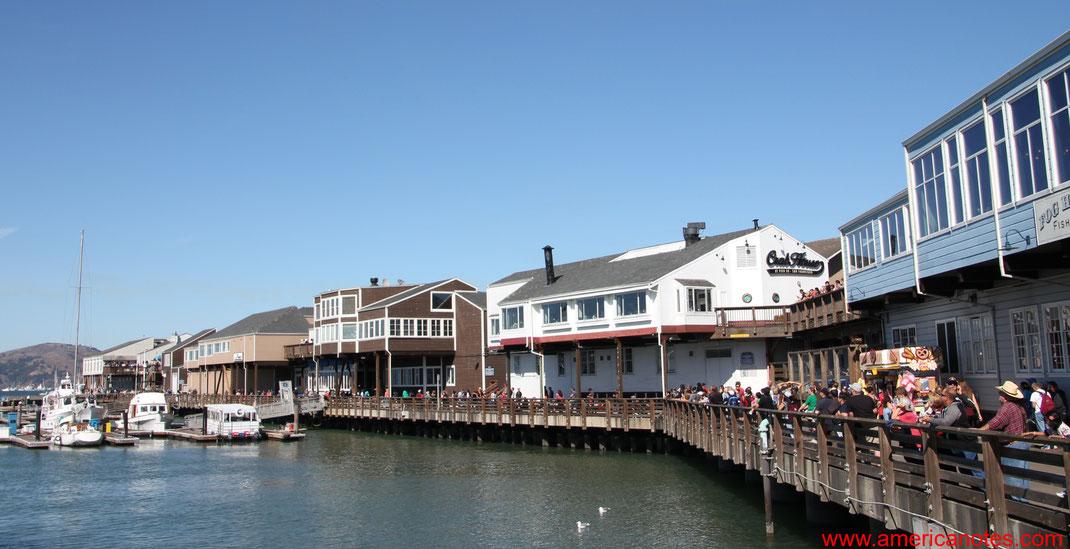 Sehenswürdigkeiten und Reisetipps San Francisco.  Das Pier 39 am Fisherman's Wharf.