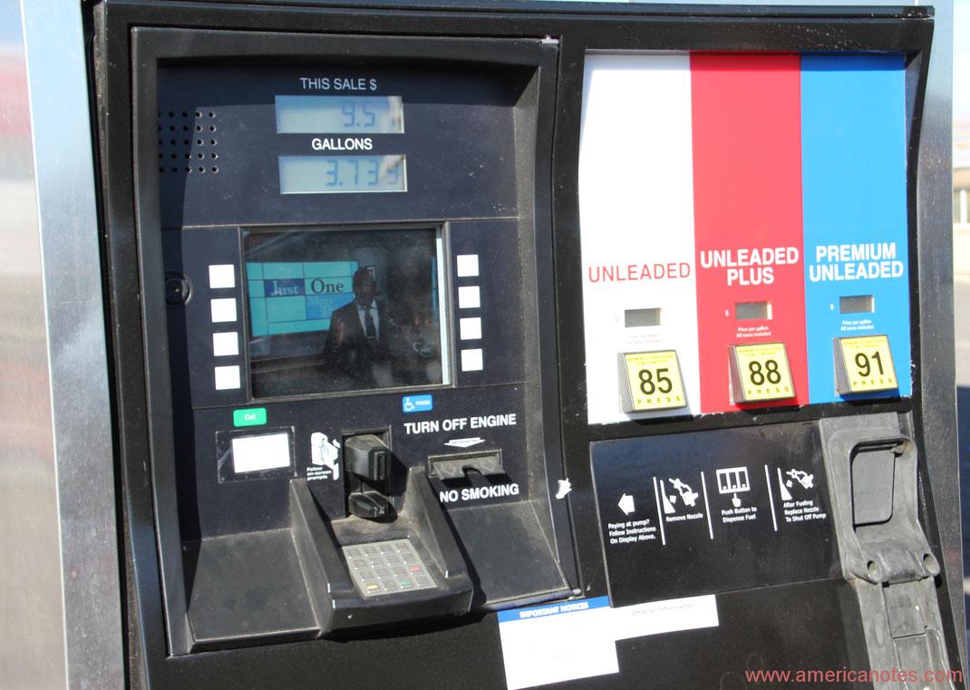 Tipps zum Tanken in den USA. Tanksäule in den USA