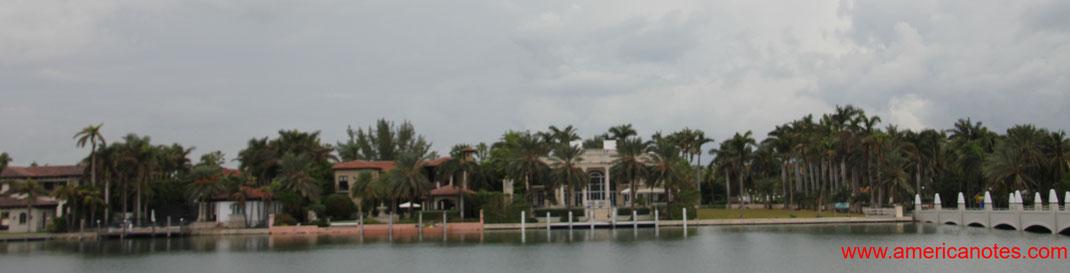 Die besten Sehenswürdigkeiten und Reisetipps für Miami, Florida. Star Island zwischen Miami Downtown und Miami Beach.