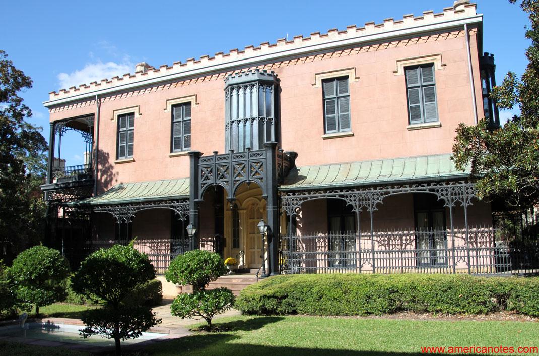 Die besten Sehenswürdigkeiten und Reisetipps für Savannah. Green Meldrim Mansion in Savannah.