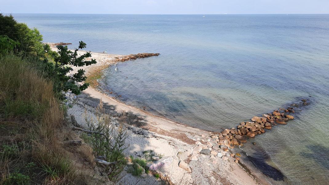 Wunderbar klare Ostsee mit Steilufer zwischen Pelzerhaken und Grömitz