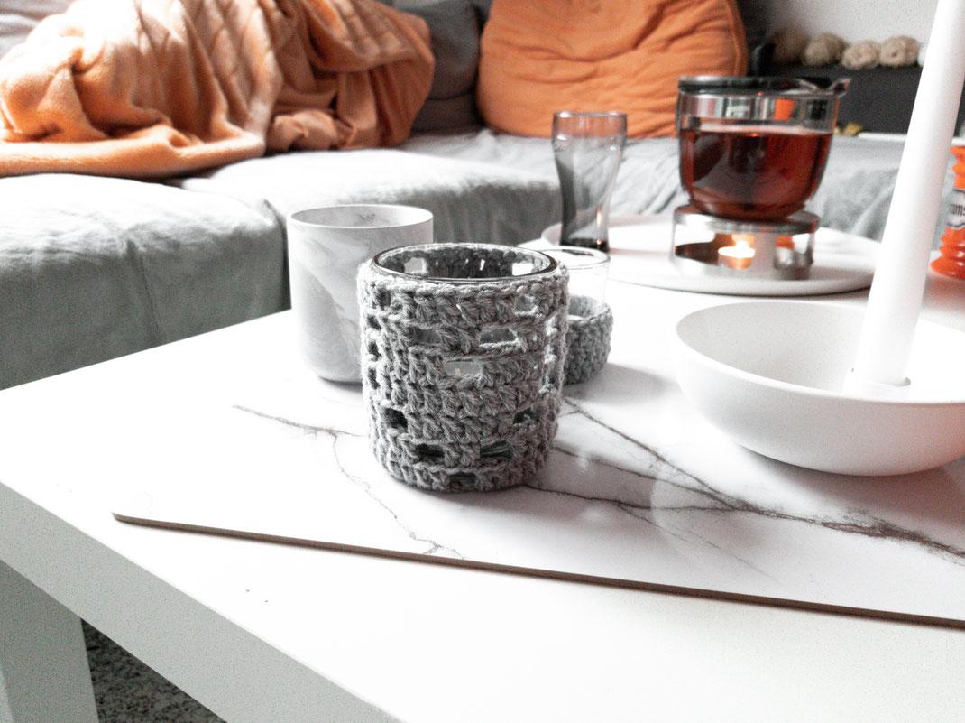 DIY | Anleitung Teelichthalter Toni häkeln auf www.garnja.de