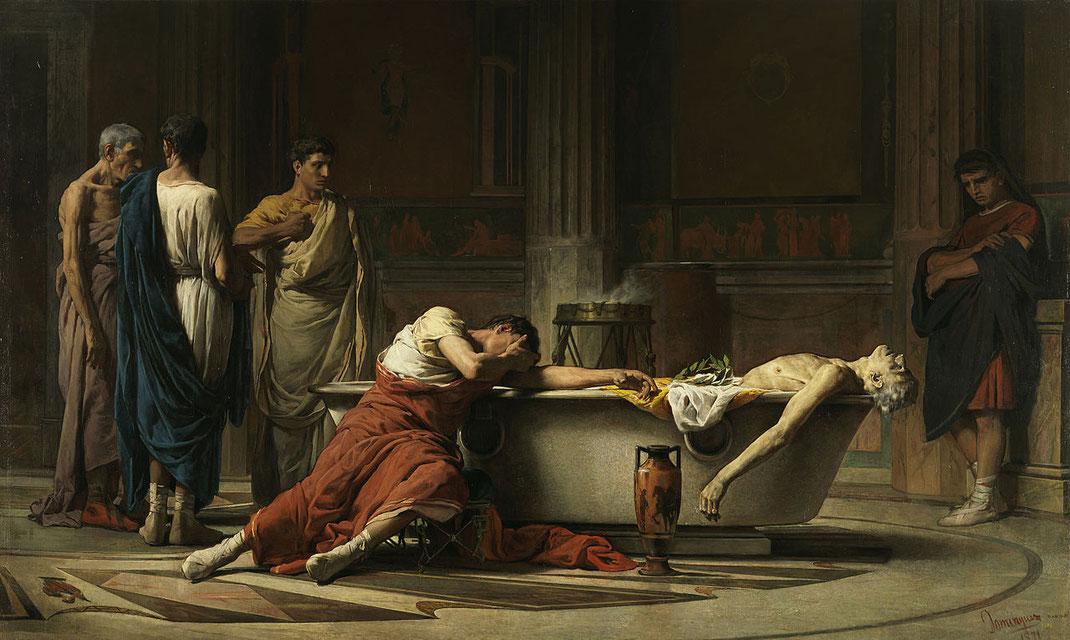 Muerte de Séneca; Roma; historia antigua; filosofía;