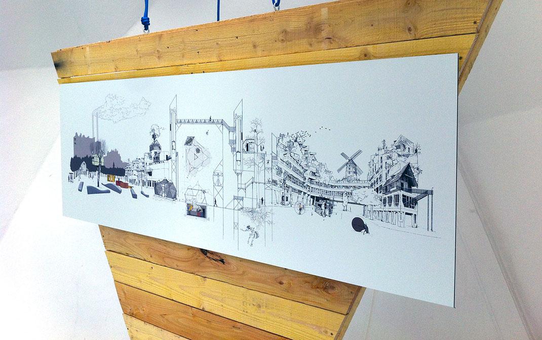 Dessin - Installation - David Magnou - Ivry-sur-Seine
