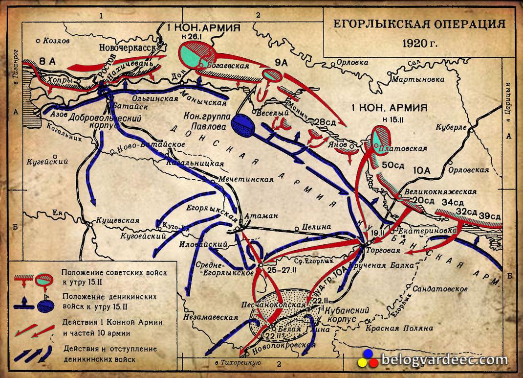 Егорлыксакая операция Красной Армии Бденный