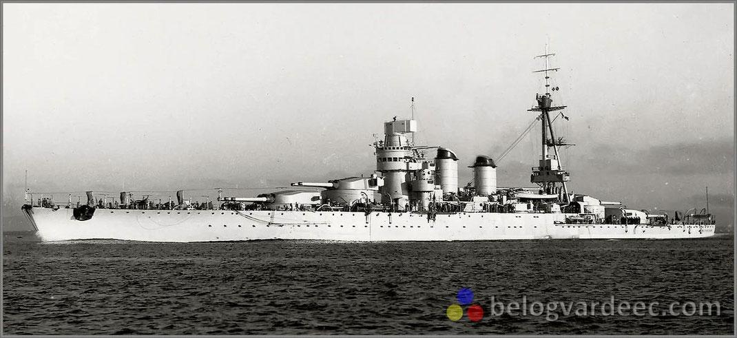 Линейный Корабль Giulio Cesare_Джулио Чезаре Италия,  до захвата советскими властями.