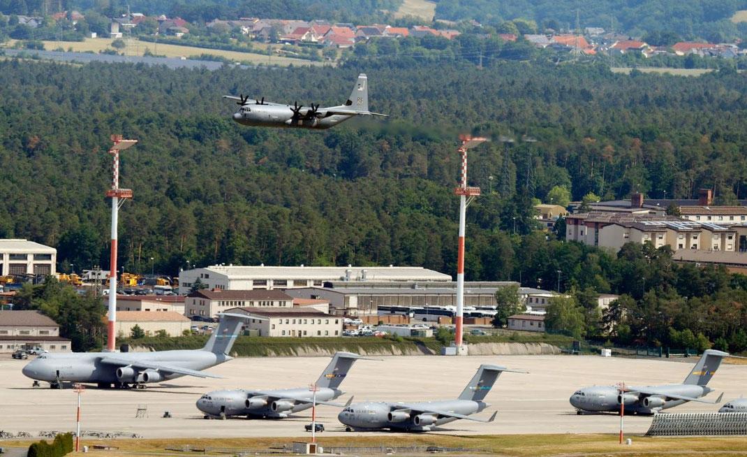 US-Armeebasis Ramstein in Rheinland-Pfalz Foto:RONALD WITTEK/EPA-EFE/Shutterstock