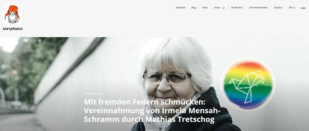 """""""... Auf der Seite «Krieg im Jemen» sieht man Mathias Tretschog als Organisator dieser Initiative auf einer Querfront-Veranstaltung – angelehnt an das Querfront-Projekt: Stopp Ramstein. Dieses wurde dort ebenfalls verlinkt ..."""""""