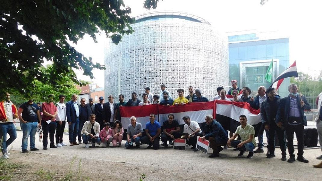 11.07.2020 - Mahnwache von Jemeniten in Berlin vor der Botschaft von Saudi Arabien