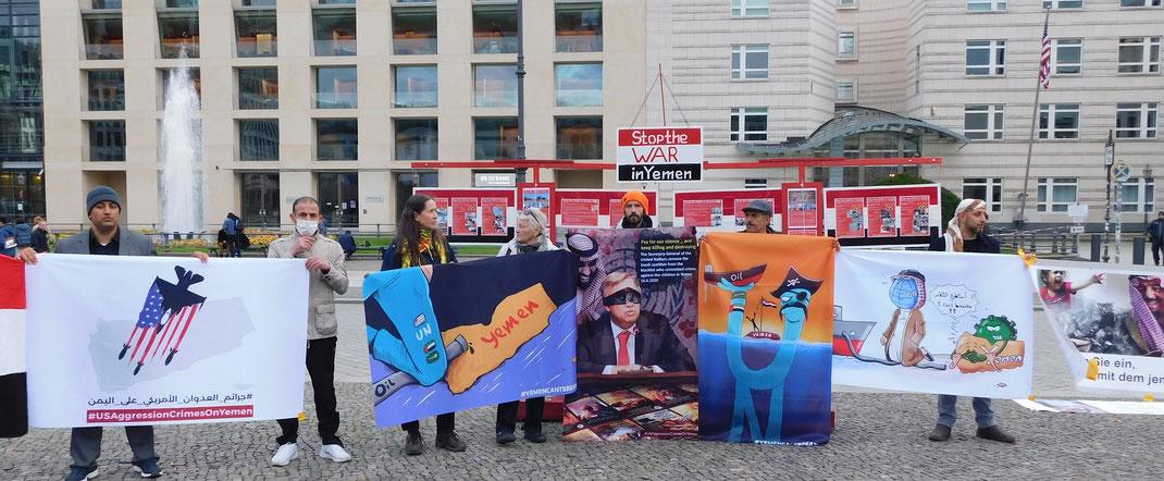 27.10.2020 - Berlin, vor der US-Botschaft - Kundgebung: Beendet den Krieg im Jemen!