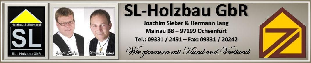 Logo  SL Holzbau GbR  - Ihre Zimmerei in der Region Würzburg Ochsenfurt und Kitzingen