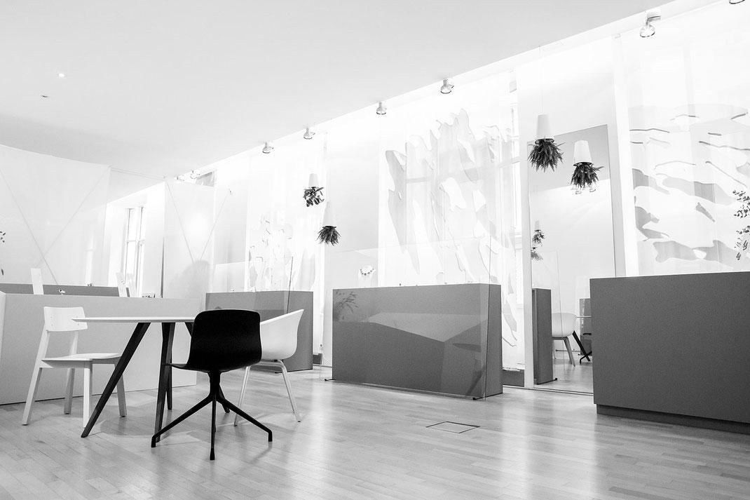 unser Verkaufsraum in unserem Atelier - direkt über dem Cafe Hawelka
