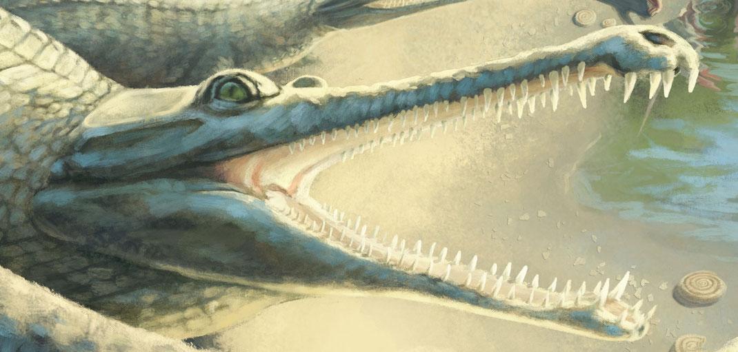 Mystriosaurus Lebendrekonstruktion