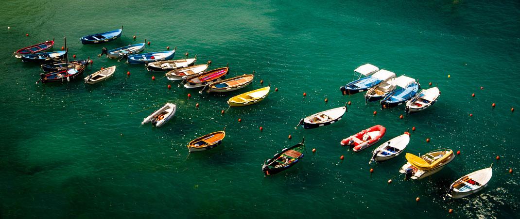 Cinque Terre - schlafende Boote