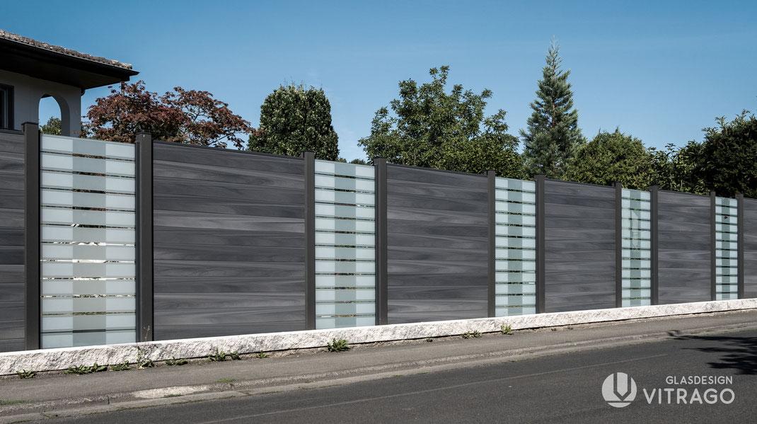 Glaszaun nach Maß für Garten und Terrasse