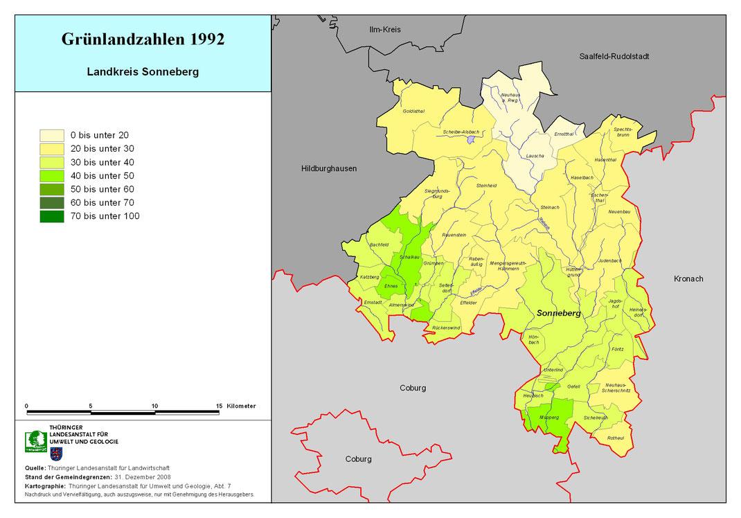 Grünlandzahlen im Landkreis Sonneberg, www.tlug-jena.de