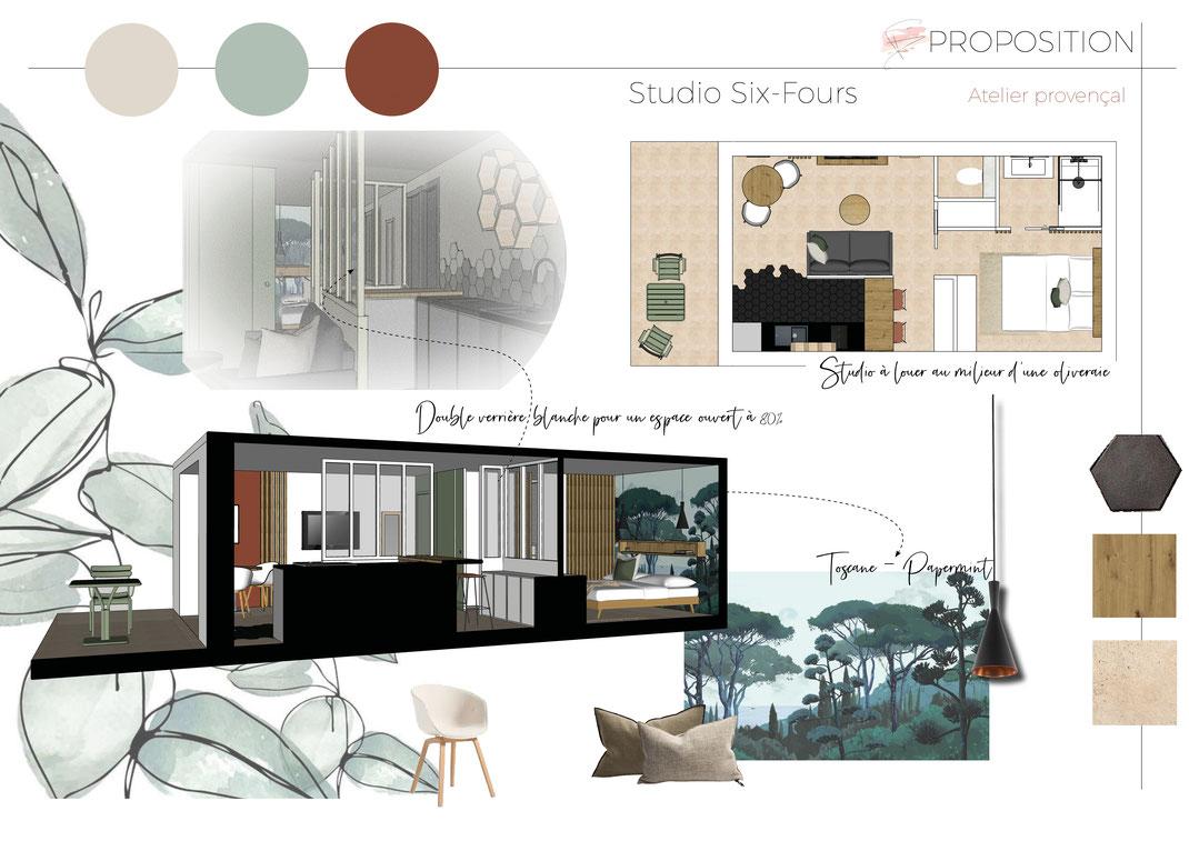 Aménagement studio 30 m2