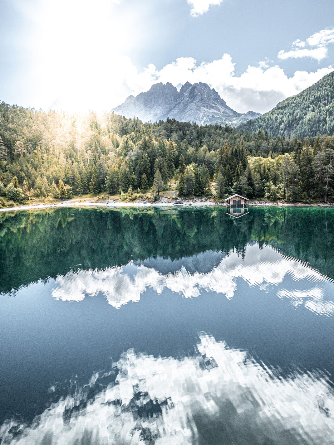 Geheimtipps für Fotografen für den Eibsee bei Garmisch-Partenkirchen an der Zugspitze: der Blindsee