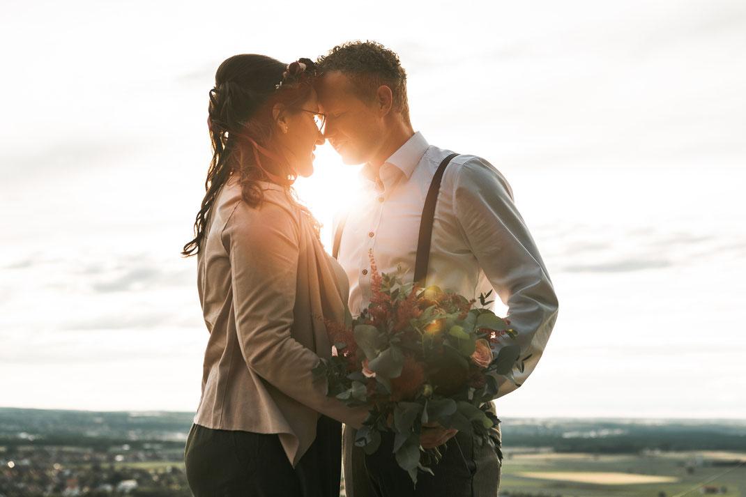 Hochzeitsfotos Sonnenuntergang - wann am besten machen?