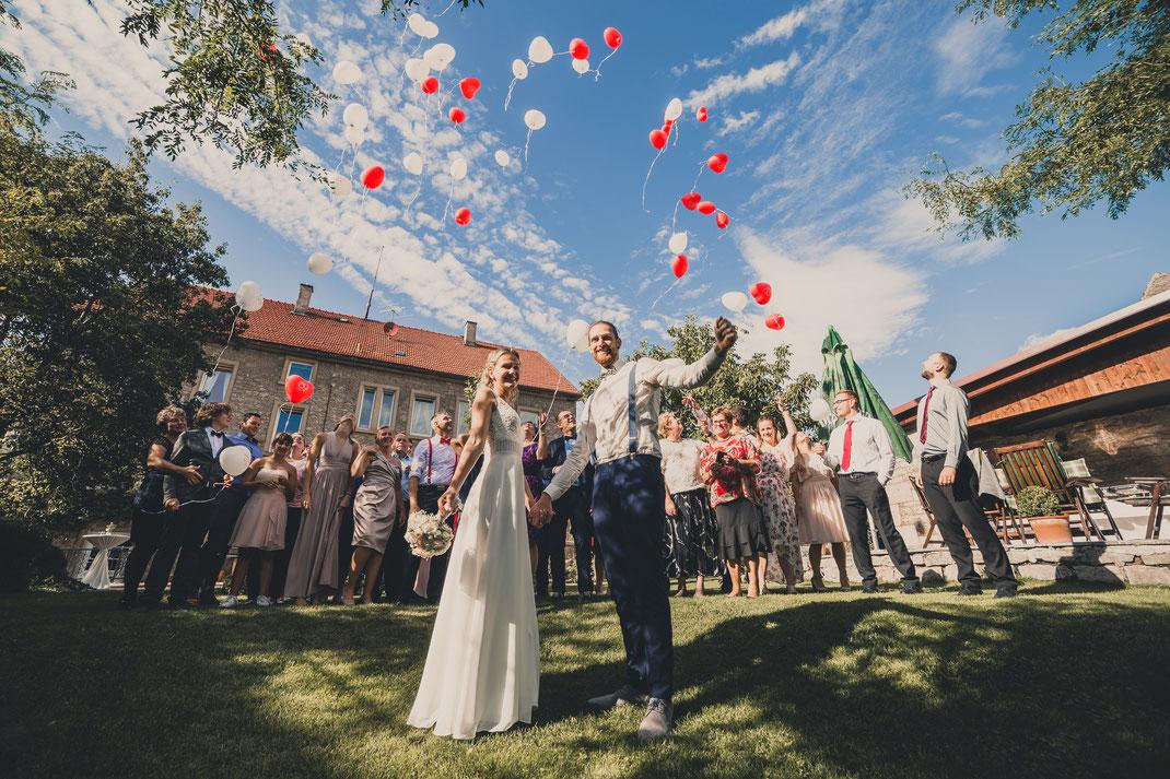 Hochzeits im Landhaus Odaia in Sulzdorf