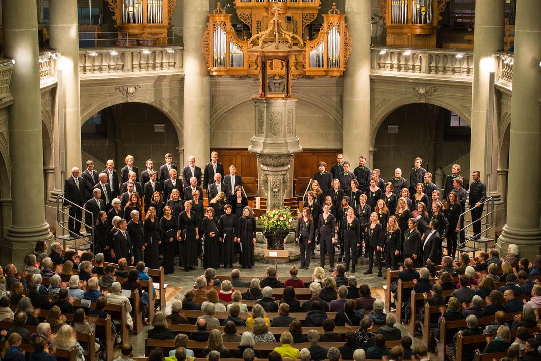 Schlussapplaus am Konzert in der Heiliggeistkirche Bern