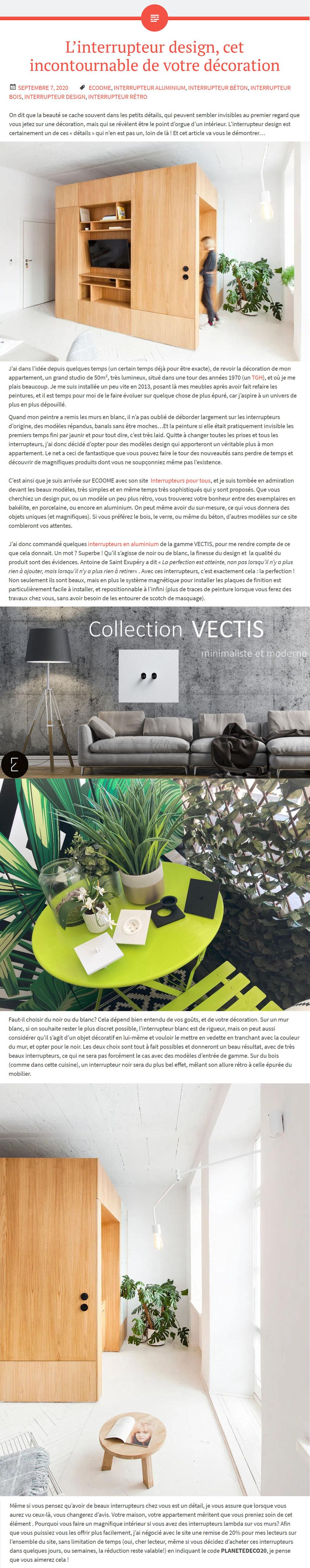 planete; deco; interrupteur; vectis; moderne,  prise; design; haut de gamme; épuré, minimaliste, simple