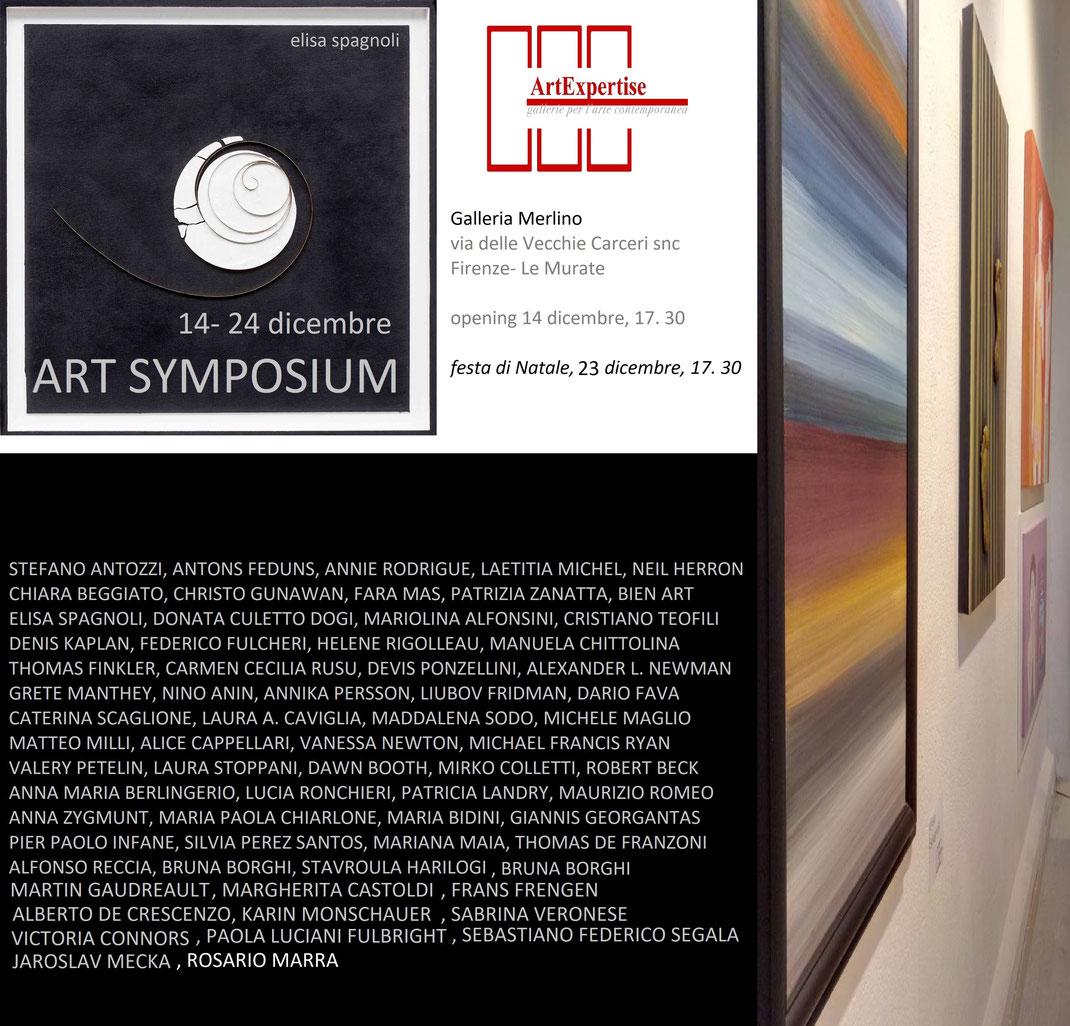 """Ausstellung """"Art Symposium"""" vom 14.12.2017 bis 24.12.2017 in der Galleria Merlino in Florenz."""