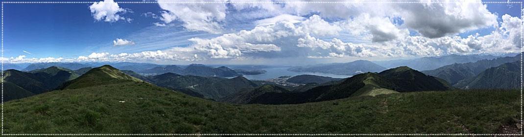I Balmil  1667m Blick auf Verbania und dem Lago Maggiore
