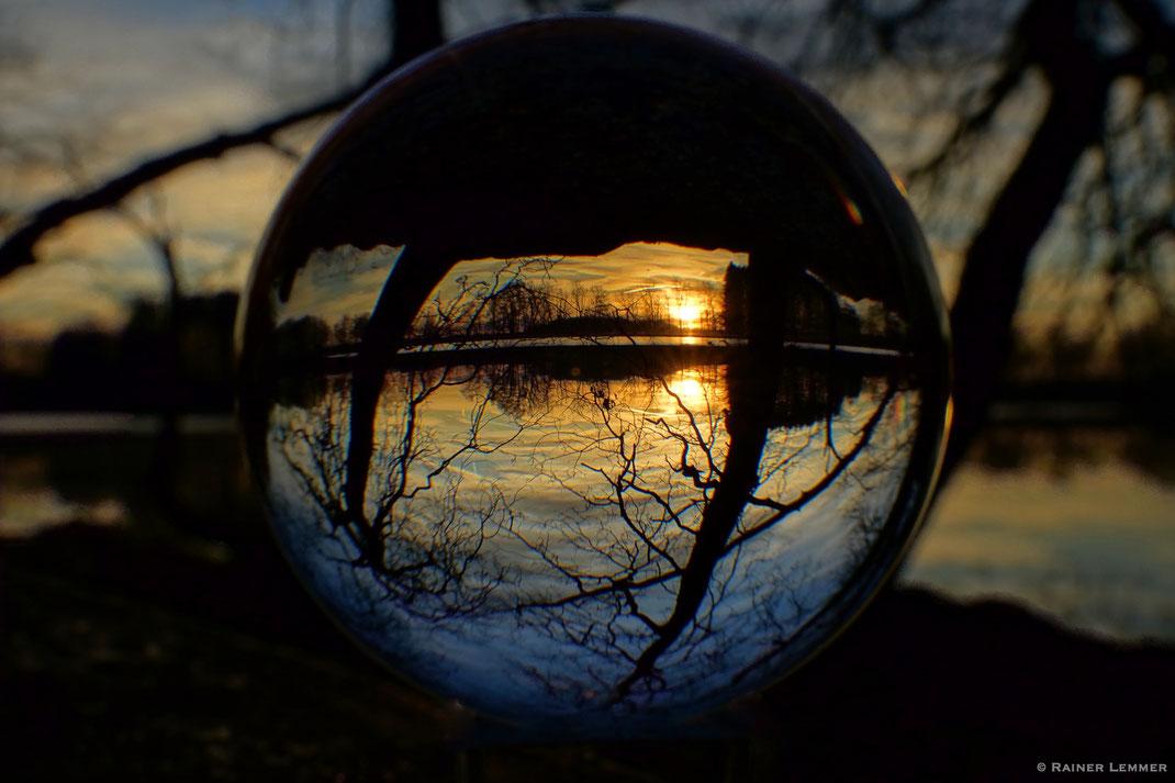 Postweiher Sonnenuntergang in der Kugel