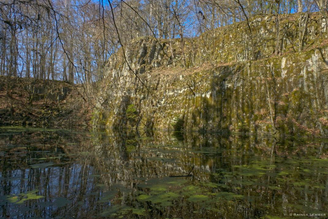 Blauer See, ehemaliger Basalt Steinbruch