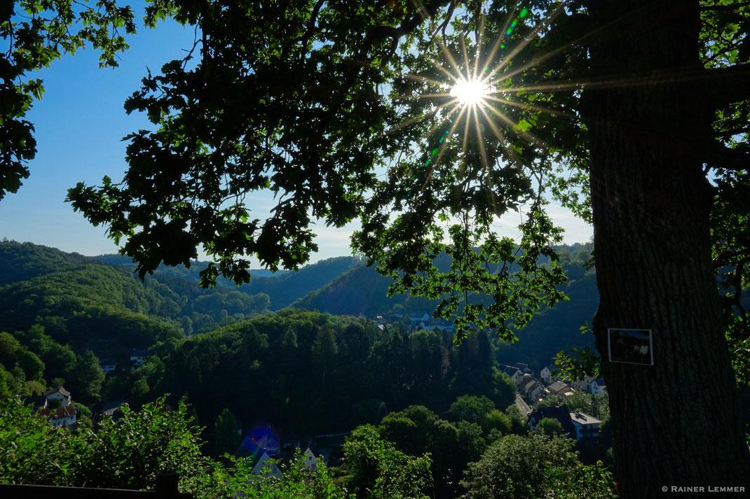 Aussicht von der Burgruine Isenburg