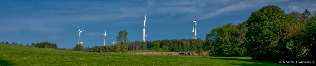 Windkraftanlagen an der Fuchskaute