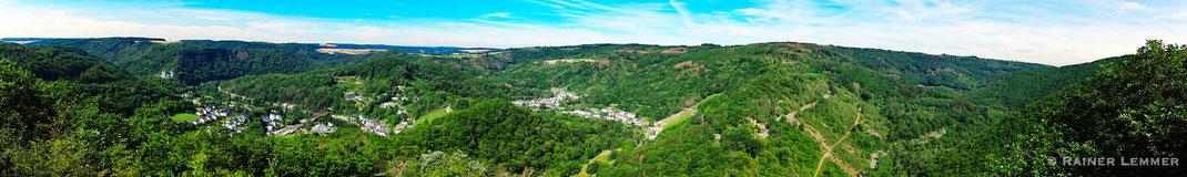 Blick vom Goethepunkt in das Nassauer Land