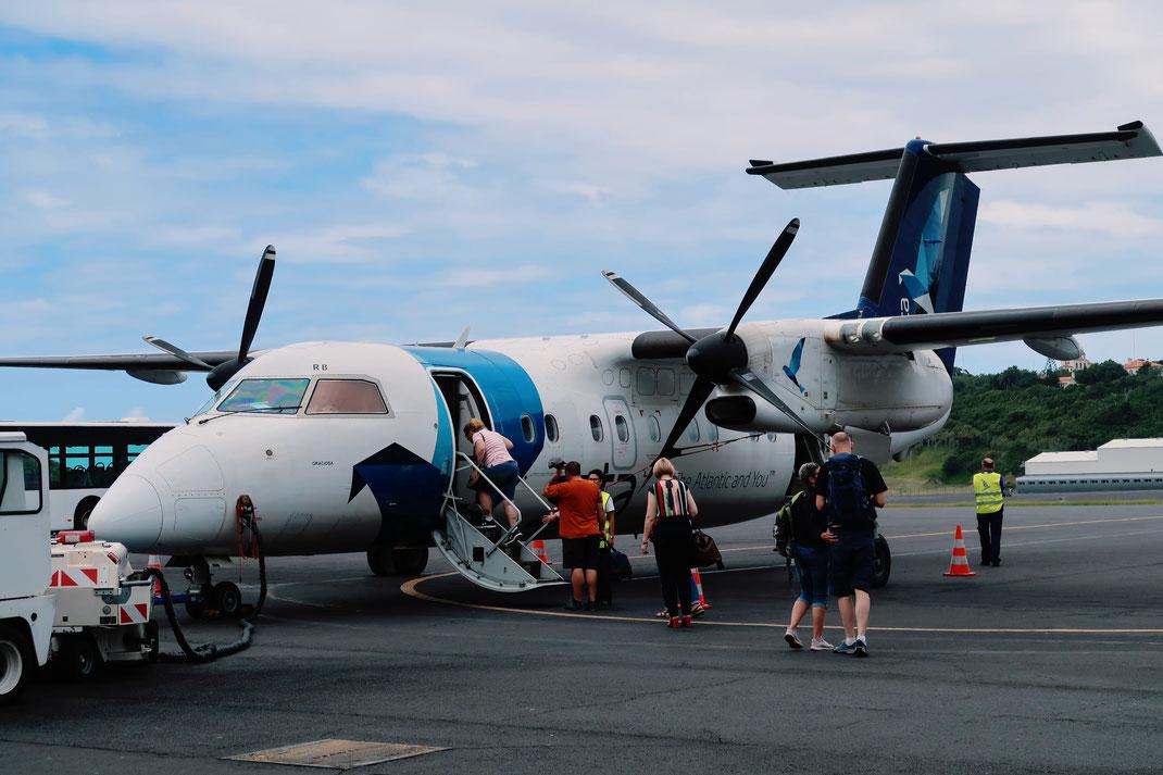 SATA Azores Airlines Flug von Terceira nach Sao Miguel