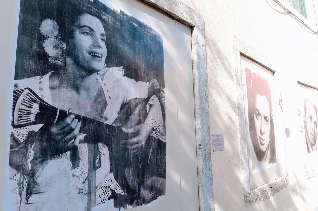 Gallerie berühmter Fado Musiker in Mouraria - Lissabon