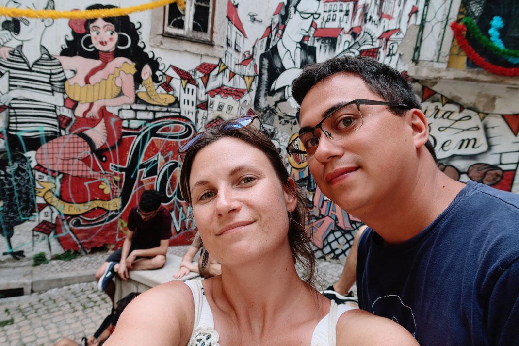 Streetart in Mouraria - dem maurischen Viertel von Lissabon