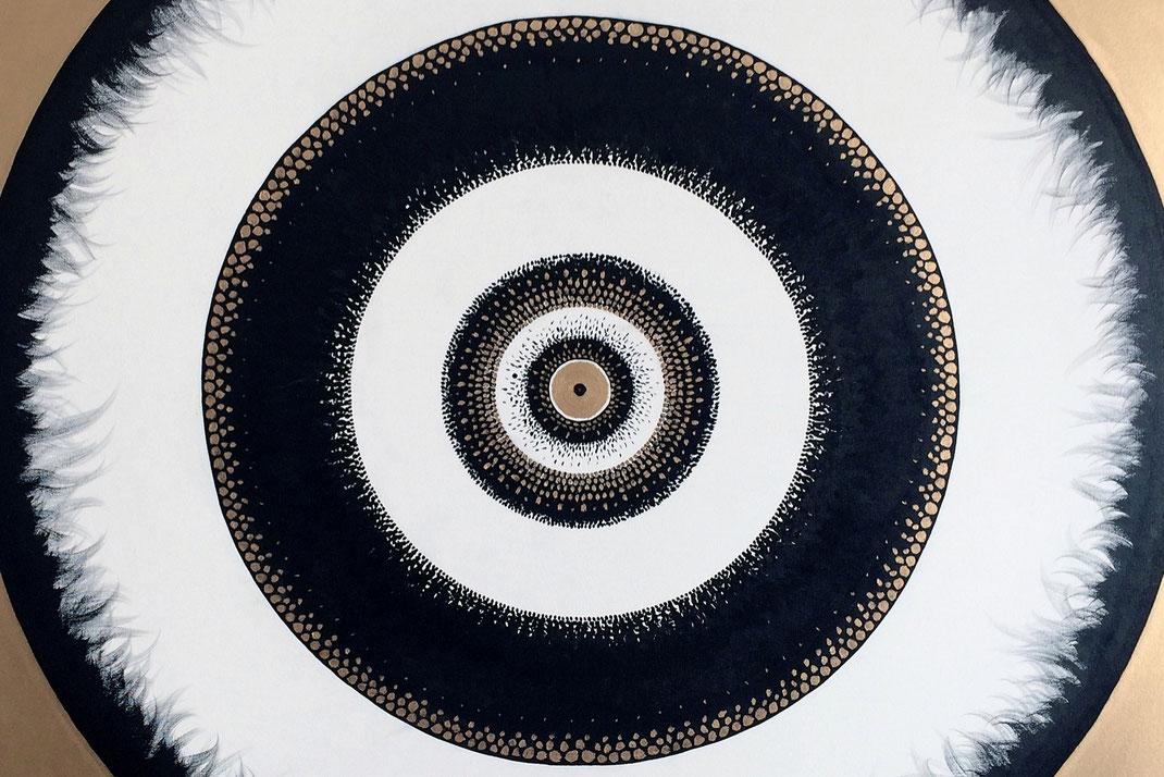 Totem-Circulaire © - Création Franck Chastanier 2018 - Tous droits réservés - 100x100cm - N° 001