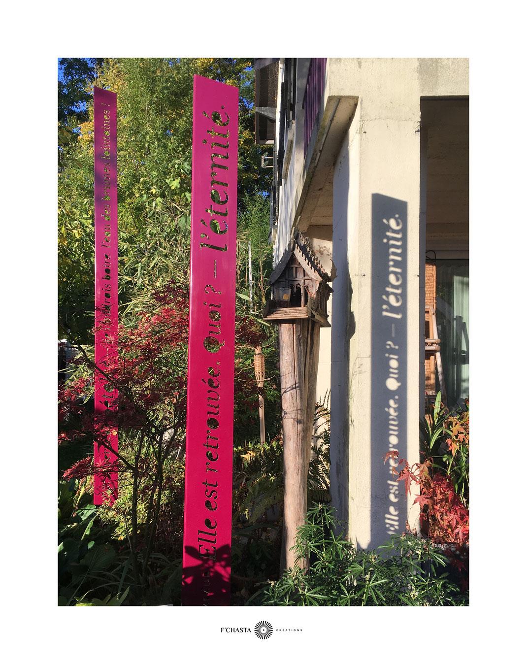 Crédits : F'Chasta Créations - Franck Chastanier / L'Atelier-Jardin, 35 rue de la Norée, 95680 Montlignon, France