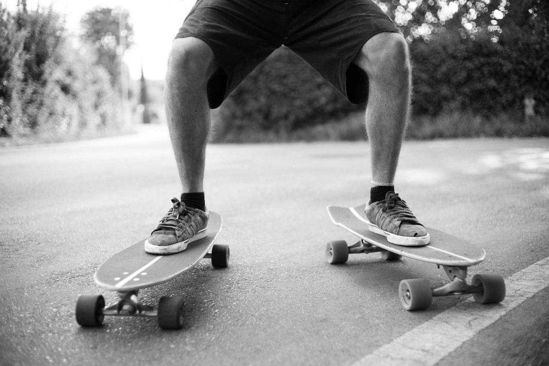 Longboard, cruiser e skateboard