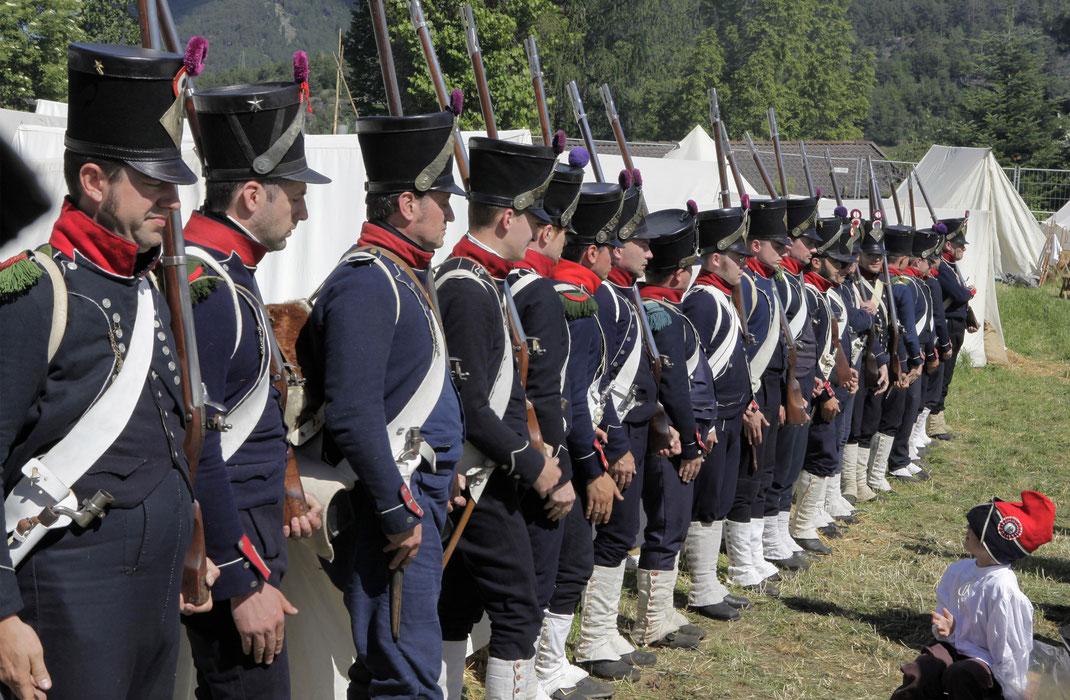 9eme Régiment d'Infanterie Légère französiche Infanterie legere Schabs Tirol 2017 Erlebnnniswelt Tirol 1809 Schabs in Flammen