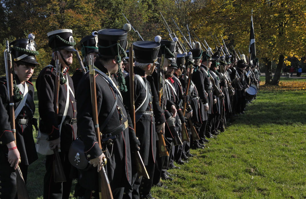 Preußen Preussen Landwehr Sagan Schlesiern Sappeur Infanterist franz, französicher Eichstätter Fotoclub Leipzig 2013 Infanterie Montur Völkerschlacht 1813