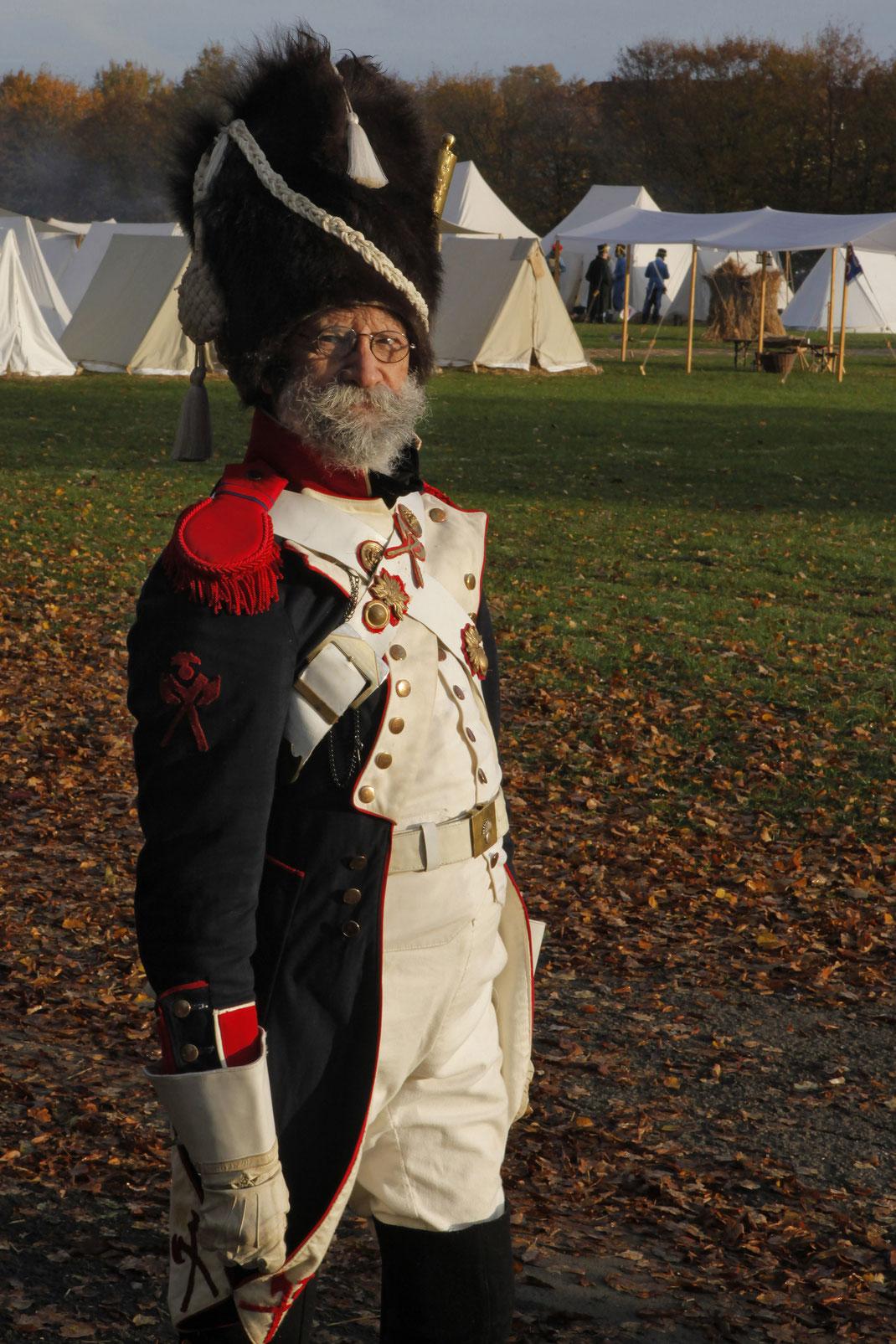 Sappeur Infanterist franz, französicher Eichstätter Fotoclub Leipzig 2013 Infanterie Montur Völkerschlacht 1813