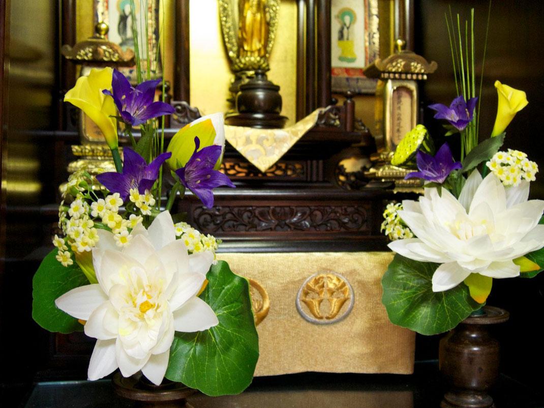 アートワーク,シルクフラワー,仏花,蓮の花,造花,お供え