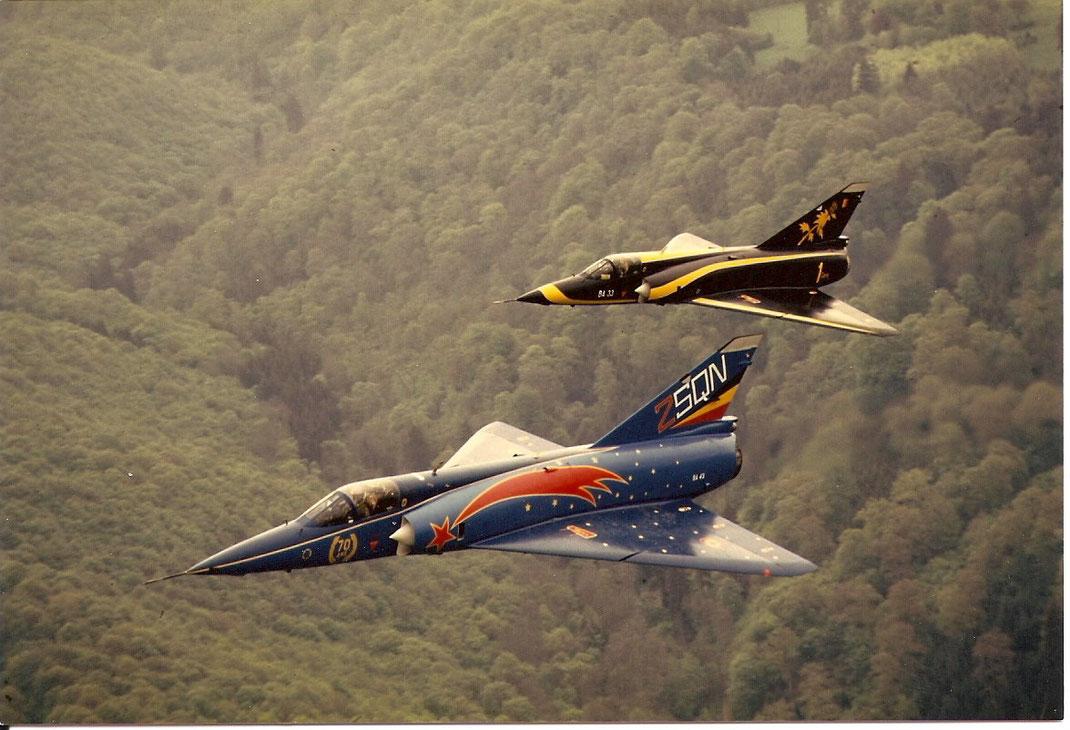 Mirage de la 2ème et 1ère Escadrille.