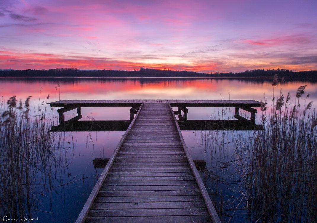 Pfäffikersee, Sonnenuntergang, Abendrot, Abendstimmung am See