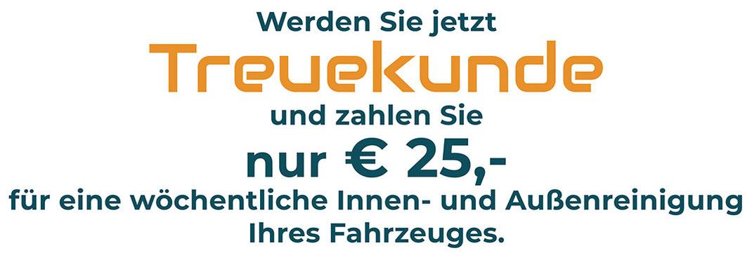 Treuekunde werden und der Traum vom immer sauberen Auto wird wahr. Autoreinigung in Neunkirchen.