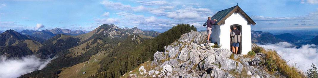 Panoramablick, Bergwanderung
