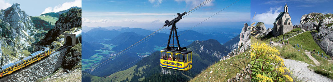 Bilder zu Wendelstein, Ausflug vom Pechlerhof zur Nachbargemeinde Brannenburg, Wendelstein Zahnradbahn