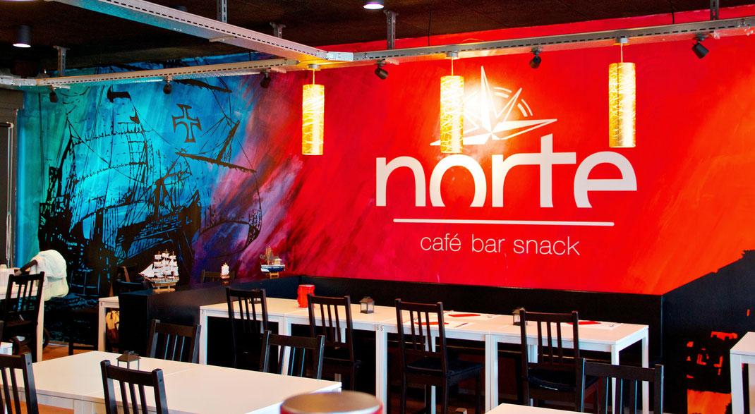 Wandgestaltung restaurant norte agentur f r wand for Raumgestaltung cafe