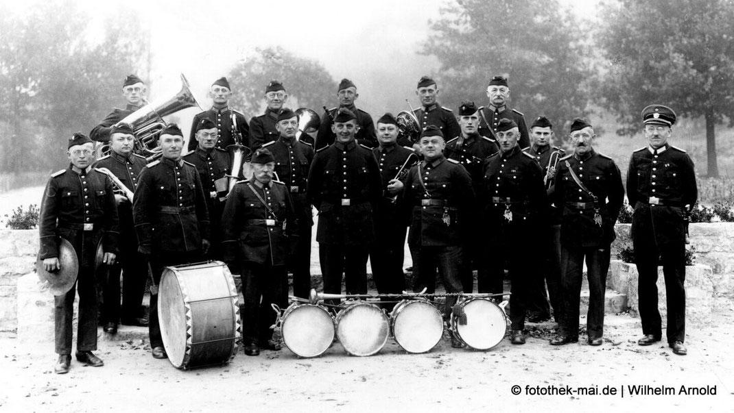 Die Feuerwehrkapelle der Freiwilligen Feuerwehr Freyburg/Unstrut um 1923 - Platten-Nr.13178